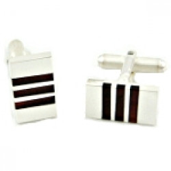 Certified Genuine Amber Sterling Silver Man Perfect Cufflinks-fr