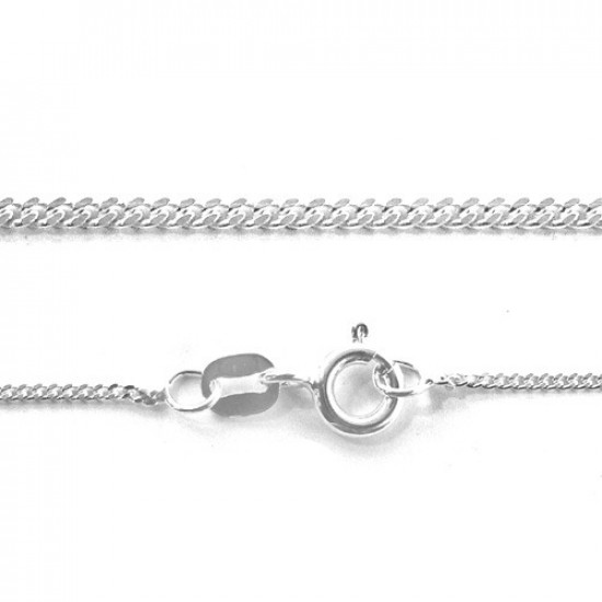 Sterling silver trace chain - width 1.7 mm