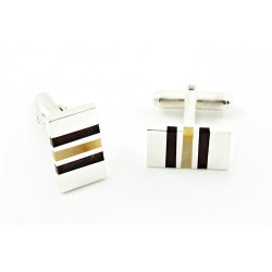 Personalized Baltic Amber sterling silver cufflinks - ELEGANCE