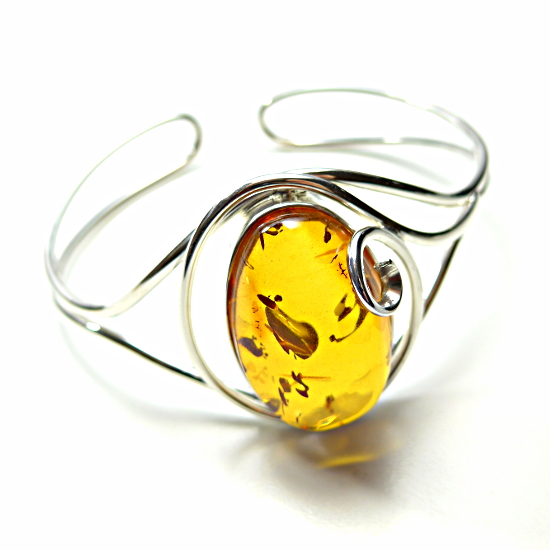 Luxury honey amber bangle bracelets