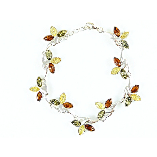Amber bracelet - Multicolor Baltic Amber