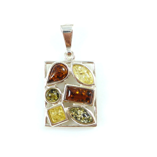 Amber pendant - unique design