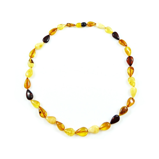 Baltic Amber Multicolor Drop Necklace