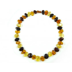 Masive Baltic Amber Multicolored Necklace
