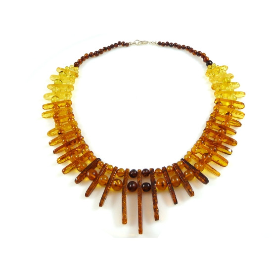 Baltic Amber Multicolor  Cleopatra Choker