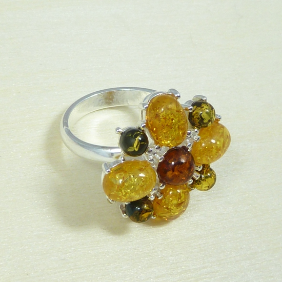 Beautiful amber ring