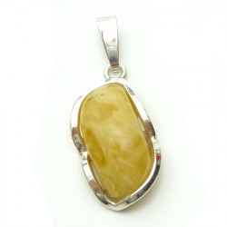 Unique and extraordinary design -milky amber  pendant