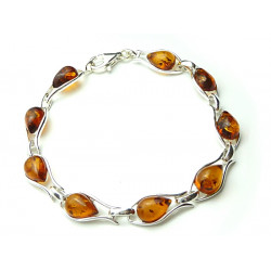 Natural Honey Amber Bracelet - Handmade - sweet design