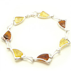 Light amber bracelet - cognac and yellow amber