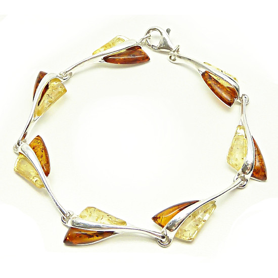 Sunny and cognac  amber bracelet - NEW DESIGN