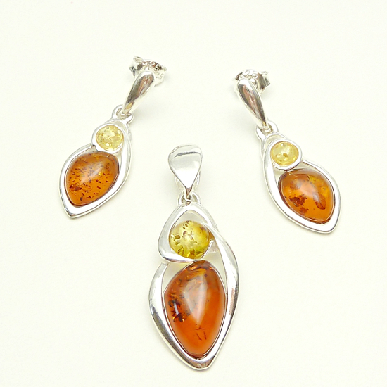 Extra amber set - cognac and yellow amber
