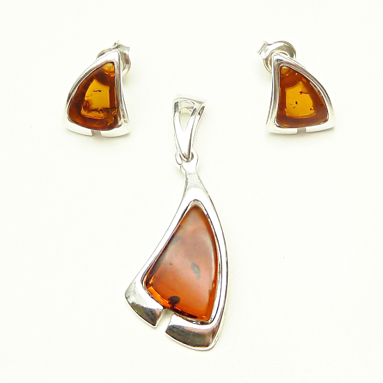 Abstract Amber Set - cognac amber