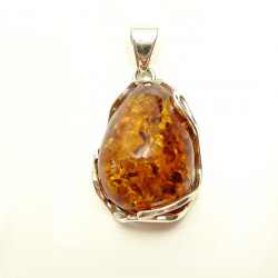 Cognac Amber Pendant in Silver .925 - amazing ...