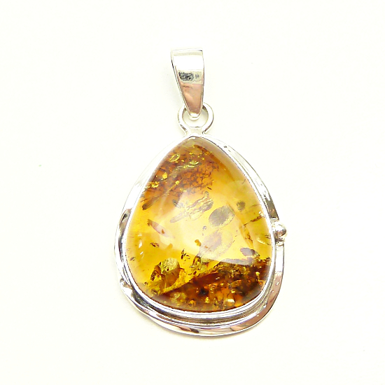 Amazing cognac pendant handcrafted of fine .925 silver