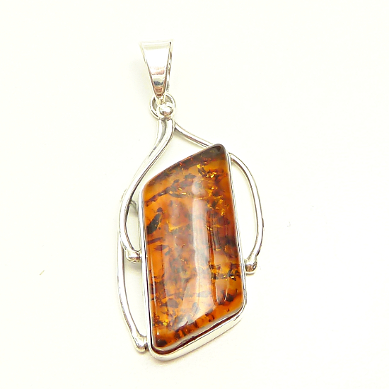 Luxury Baltic amber pendant