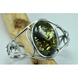 Stunning Beautiful Green Baltic Amber Cuff Bracelet