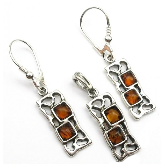New design - genuine baltic amber set