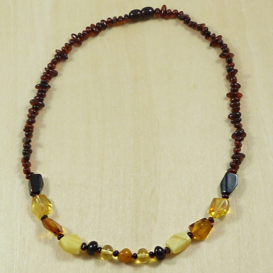Multi-colored Amber Beads Necklace - new desig