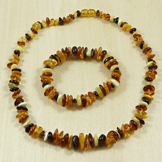Chips of Multicolor Amber Set