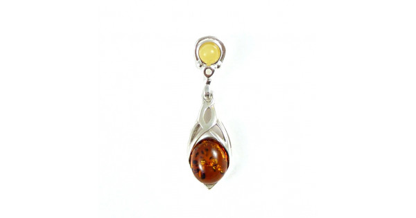 pendant cognac and g seriously silver amber products sterling